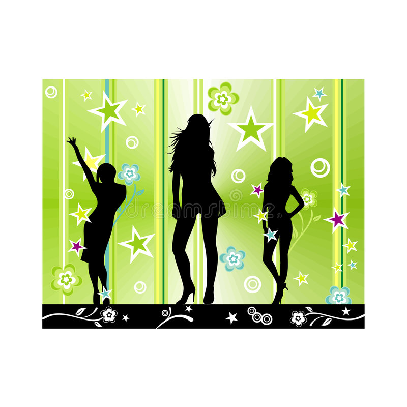 Download Vector Fashion Party Illustration Stock Photo - Image: 4982900