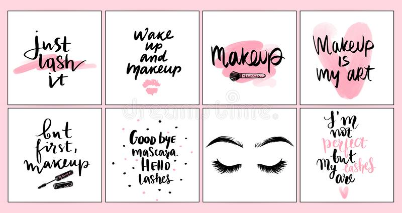 Vector Fashion Posters With Positive Quotes Home Decor Photo Frame With Inspirational Phrases Stock Vector Illustration Of Card Design 135256439