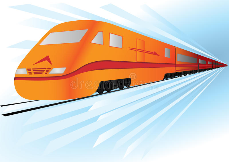 vector Fast high speed train stock images