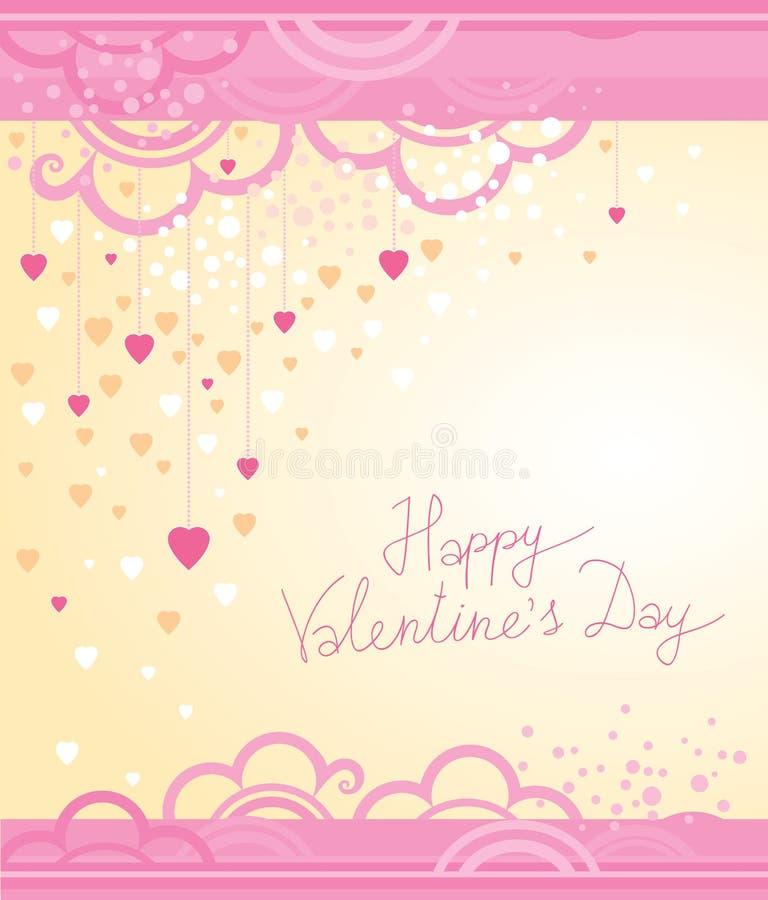Vector feestelijke decoratiekaarten voor Valentijnskaartendag stock illustratie