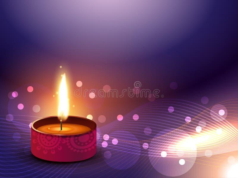 Vector feliz del diwali stock de ilustración