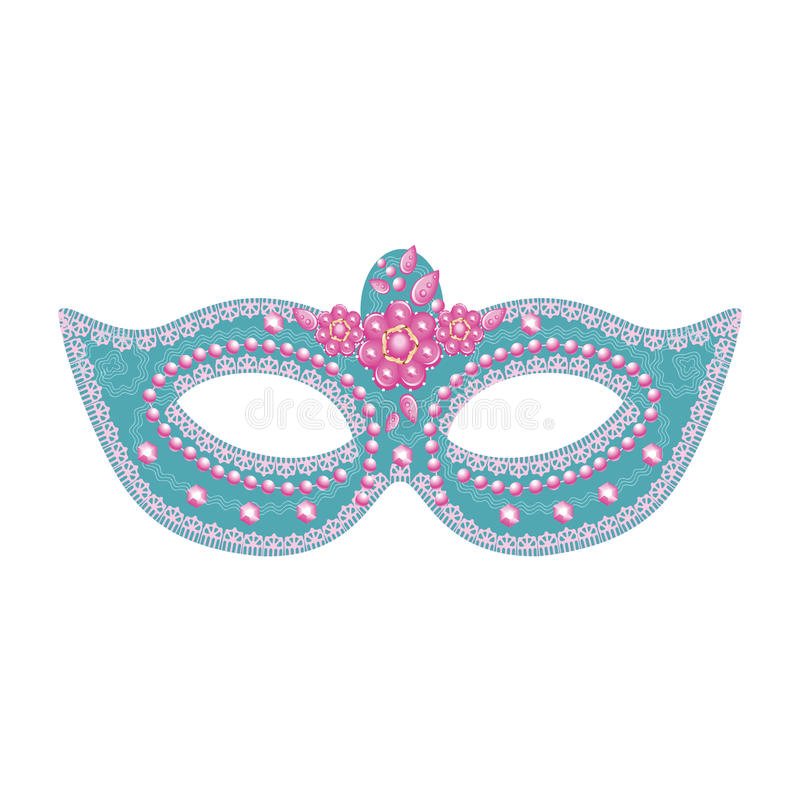 Vector female carnival mask with sequins royalty free stock photos