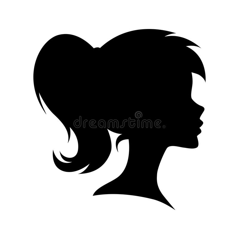 vector female head silhouette stock vector illustration of face rh dreamstime com head vector rs head vector skis