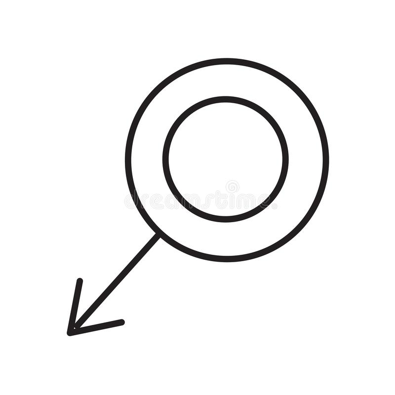 Vector femenino del icono aislado en el fondo blanco, muestra femenina, símbolos médicos de la salud ilustración del vector