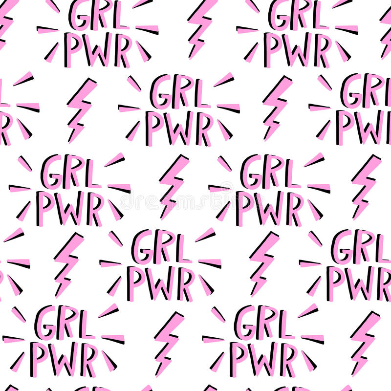 Vector feminism seamless pattern. Feminist movement royalty free illustration