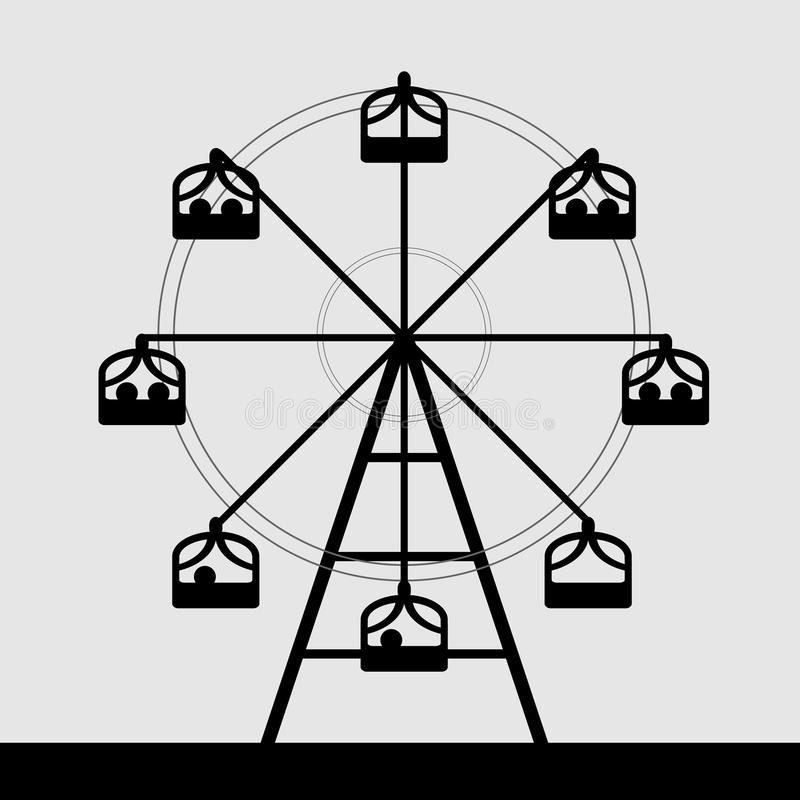 Vector of ferris wheel stock vector. Image of empty ...