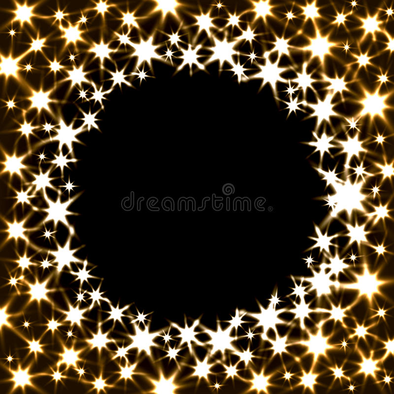 Vector Festive Banner with Shiny Stars and Round stock illustration