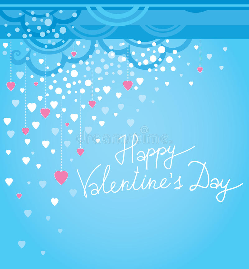 Vector festive decoration cards for Valentines Day vector illustration