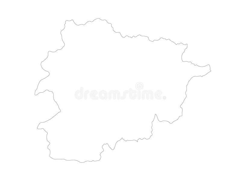 Andorra map - Principality of Andorra stock illustration