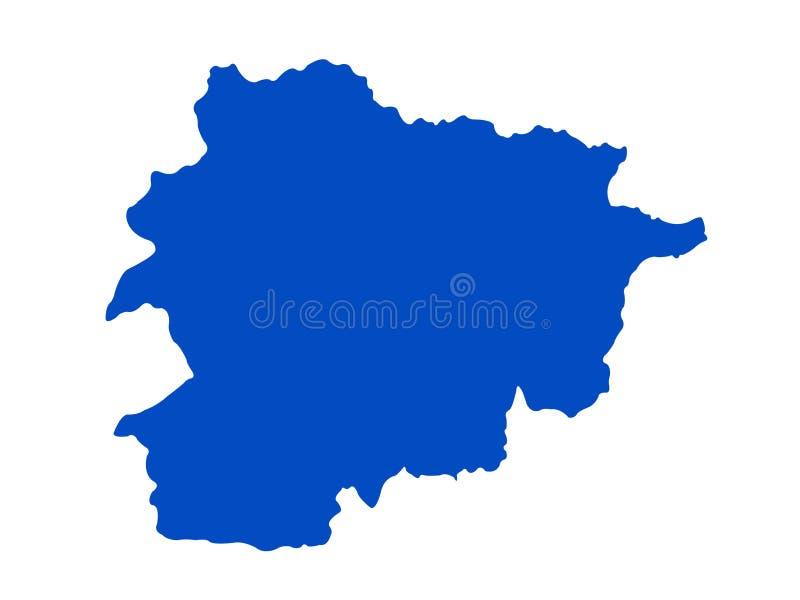 Andorra map - Principality of Andorra vector illustration