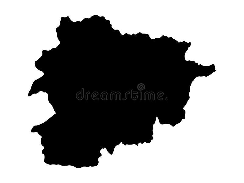 Andorra map - Principality of Andorra. Vector file of Andorra map - Principality of Andorra, sovereign landlocked microstate on the Iberian Peninsula vector illustration