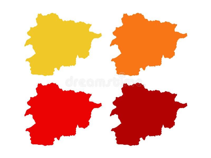 Andorra map - Principality of Andorra royalty free illustration