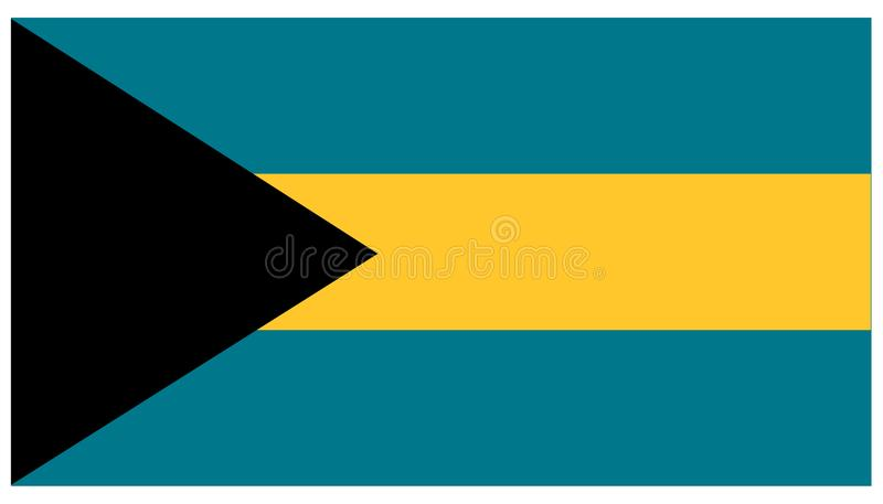 Bahamas flag - banner, Central America, country. Vector file of Bahamas flag - banner, emblem, Central America, country, Nassau stock illustration