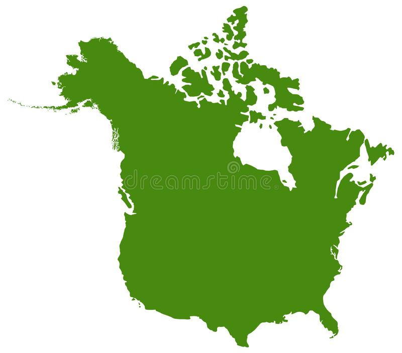 Canada And USA Maps And Flags - Two Countries In North ...