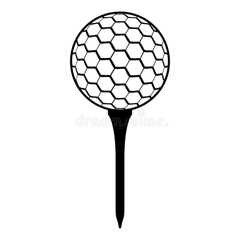 Golf Ball On Tee Eps File Stock Illustration Illustration Of Sport 159514686