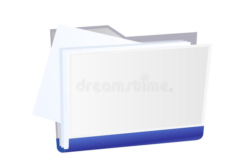 Vector File Folder Royalty Free Stock Image