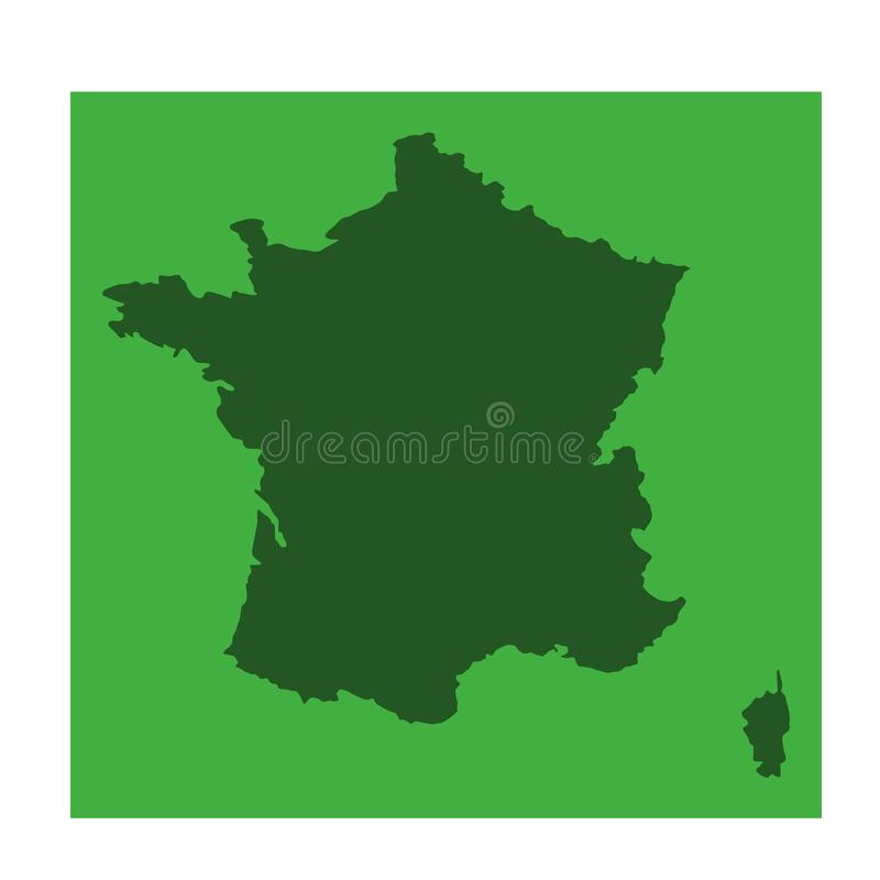 France map - sovereign state in Western Europe stock illustration