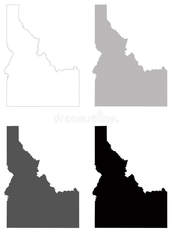 Idaho map - state in the northwestern region of the United States. Vector file of Idaho map - state in the northwestern region of the United States vector illustration