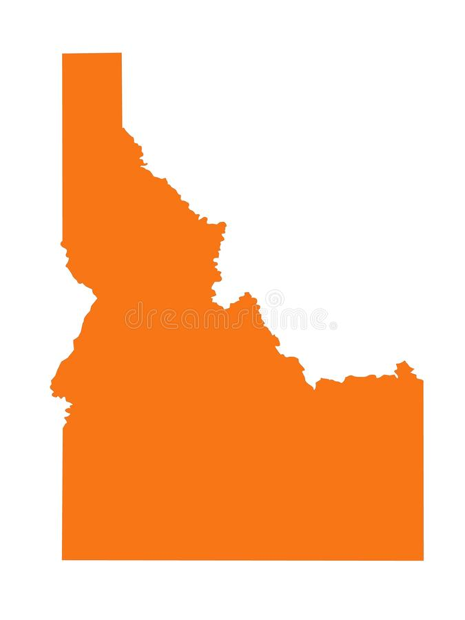 Idaho map - state in the United States. Vector file of Idaho map - state in the United States royalty free illustration