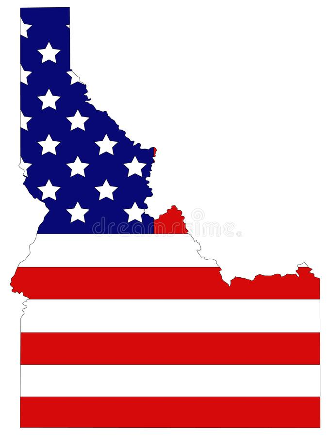 royalty free vector download idaho map with usa flag state in the northwestern region of the united states