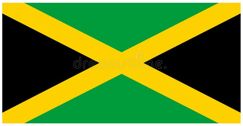 Jamaica flag - banner, Central America, country stock illustration