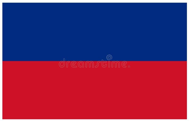 Liechtenstein flag - microstate in Central Europe. Vector file of Liechtenstein flag - microstate in Central Europe royalty free illustration