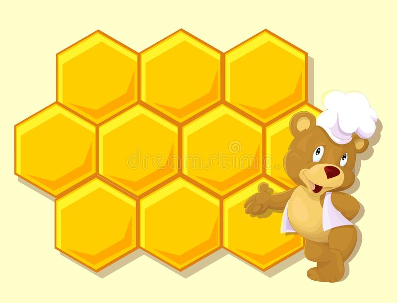 Little bear with honey wax royalty free stock image