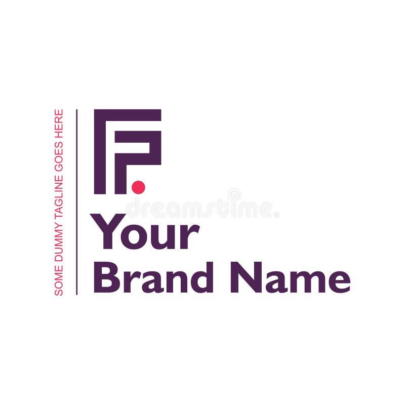 Logo Design for Letter FP Alphabet vector illustration