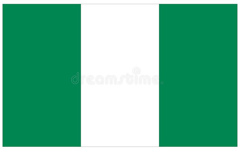 Nigeria flag - banner, Africa country royalty free illustration