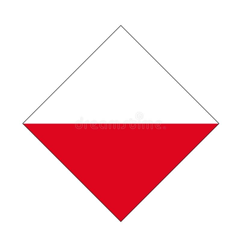 Polish flag - Republic of Poland. Vector file of Polish flag - Republic of Poland, country located in Central Europe stock illustration