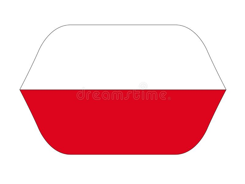 Polish flag - Republic of Poland. Vector file of Polish flag - Republic of Poland, country located in Central Europe royalty free illustration