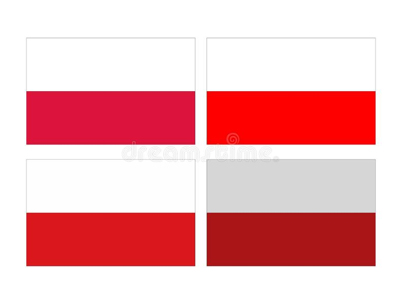 Polish flag - Republic of Poland. Vector file of Polish flag - Republic of Poland, country located in Central Europe vector illustration