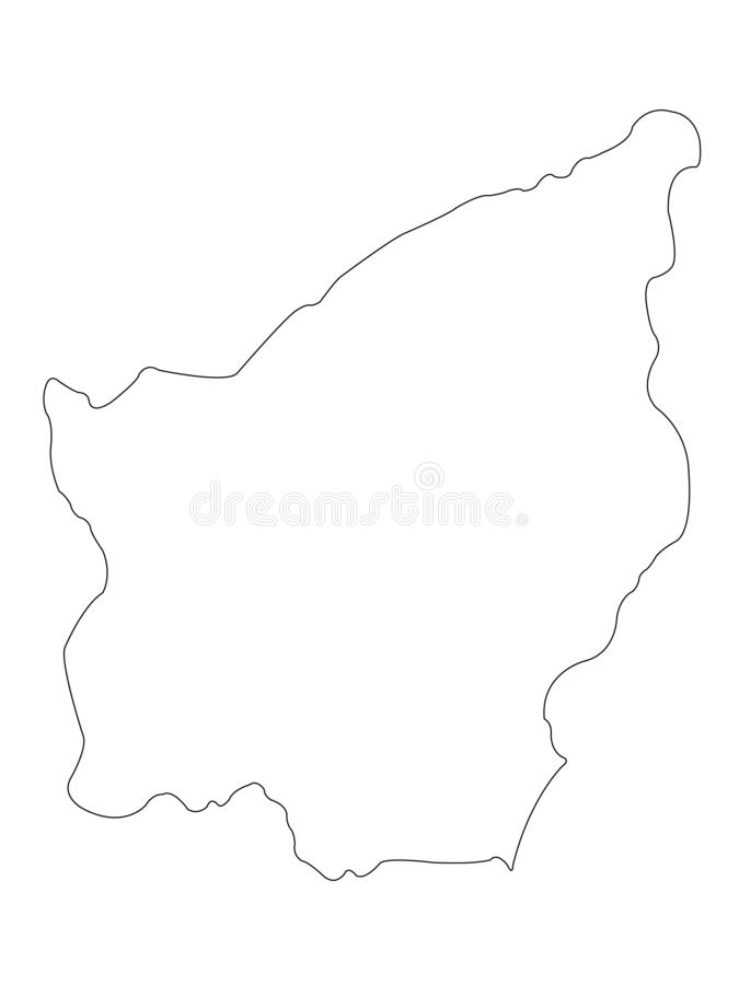 San Marino map - Republic of San Marino stock illustration