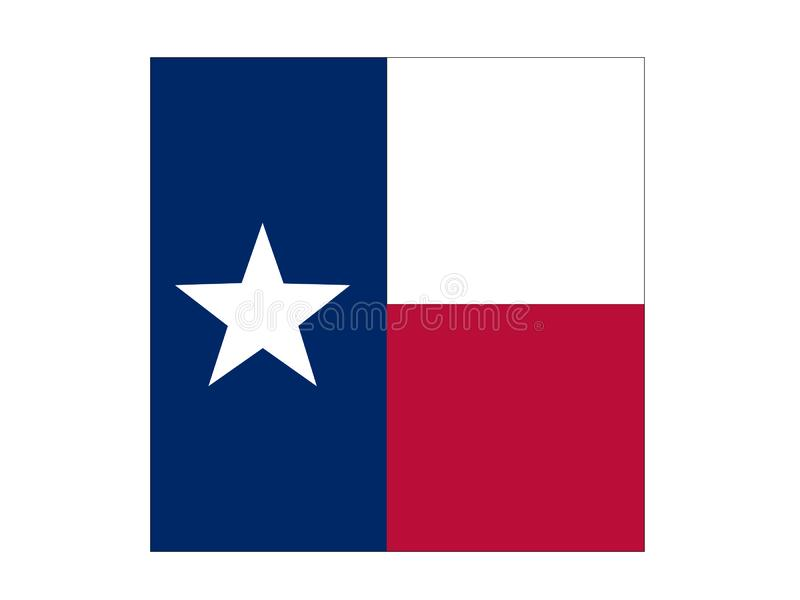 Texas flag - the second largest state in the United States. Vector file of Texas flag - the second largest state in the United States stock illustration