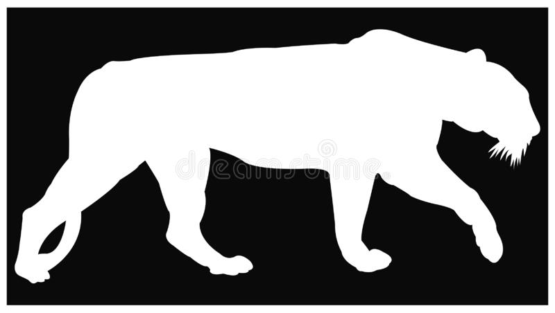 Tiger silhouette - the largest wildlife cat. Vector file of tiger silhouette - the largest wildlife cat vector illustration