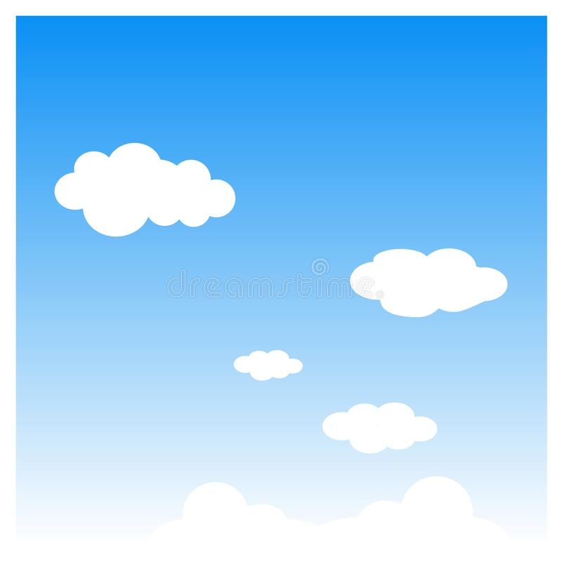 Weather icon - clouds and skies. Vector file of weather icon - cloud is an aerosol consisting of a visible mass of minute liquid droplets, frozen crystals, or royalty free illustration