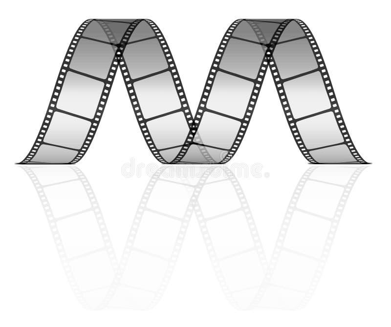 Vector film strip stock illustration