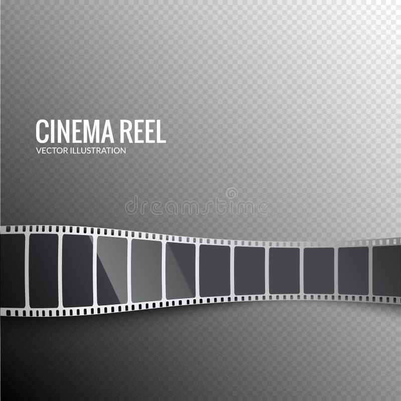 Vector film strip. Movie 3d filmstrip background. Film reel picture cinematography vector illustration