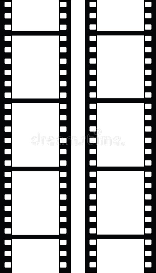 Vector filmstrip vector illustratie