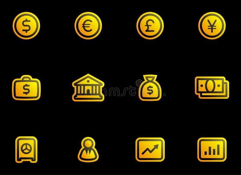 Vector Finance, Banking Icon Set Stock Vector - Illustration of illustration, finance: 6533245