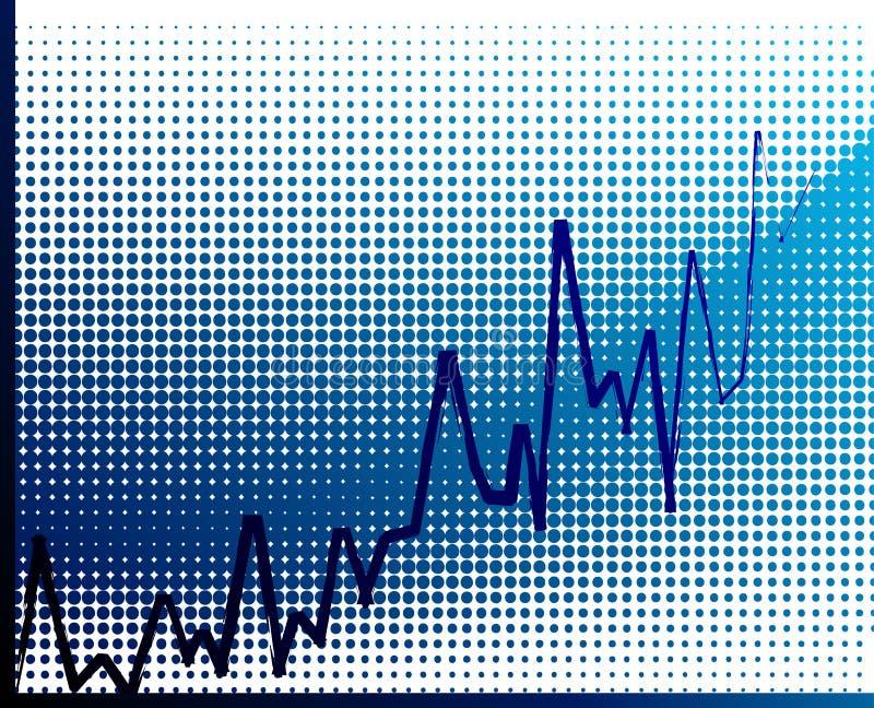 Vector financial graph. Vector illustration of economic rise royalty free illustration
