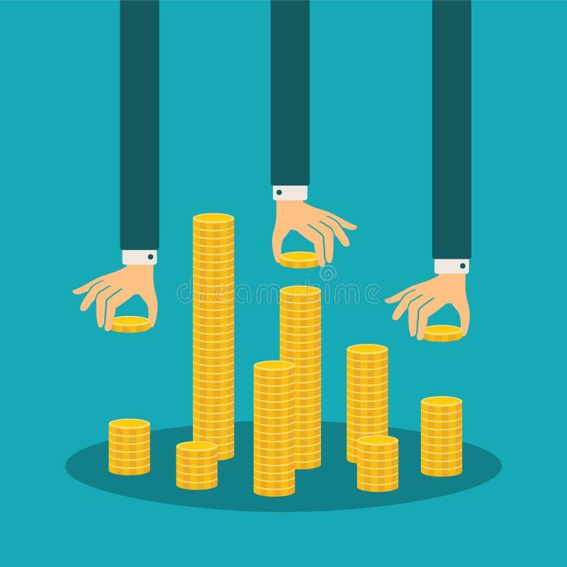 Vector financieel beheer concept royalty-vrije illustratie