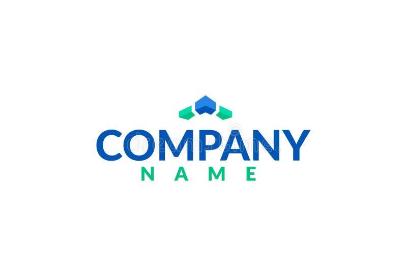 Vector Financieel Logo Design stock illustratie