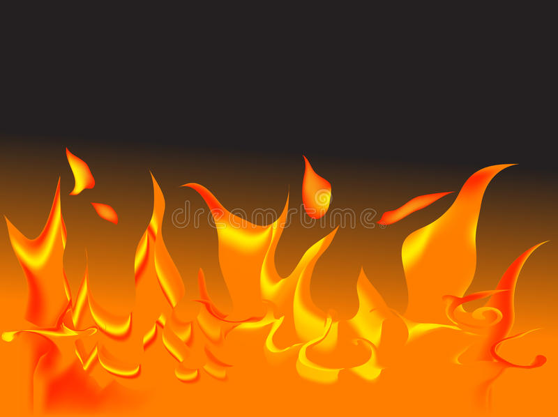 Vector fire royalty free illustration