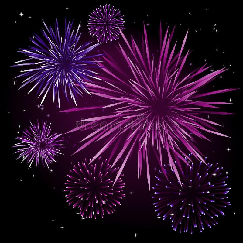 Vector fireworks royalty free illustration