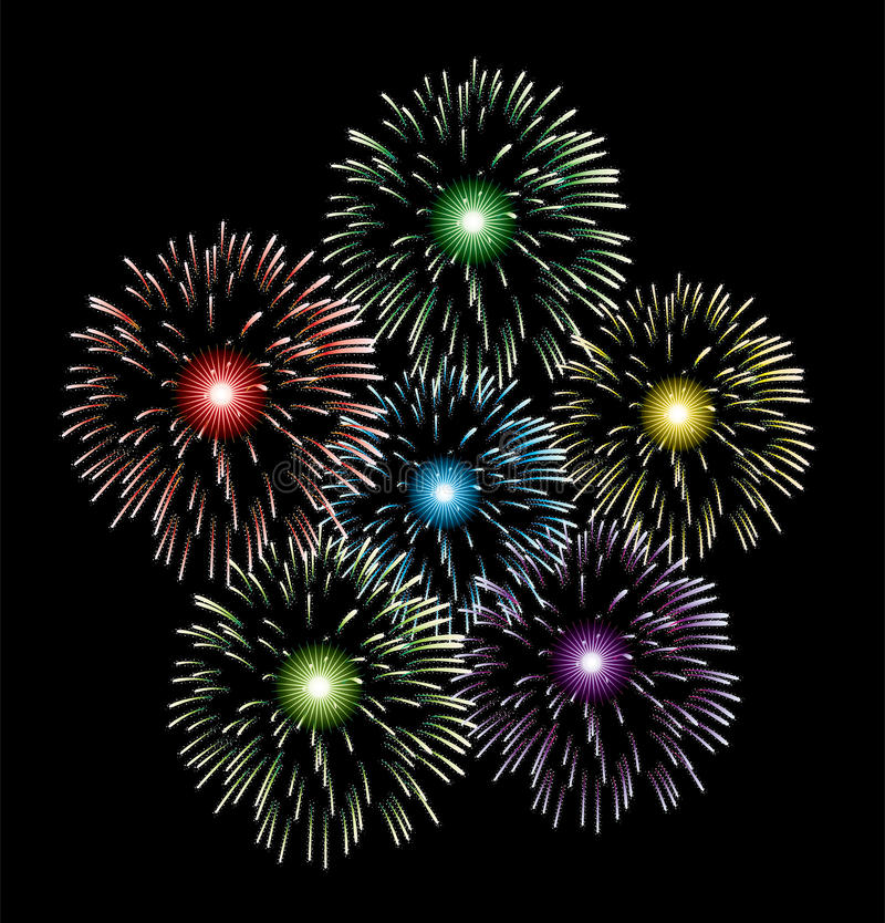 vector fireworks royalty free illustration