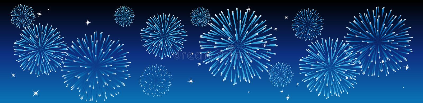 Vector fireworks stock illustration