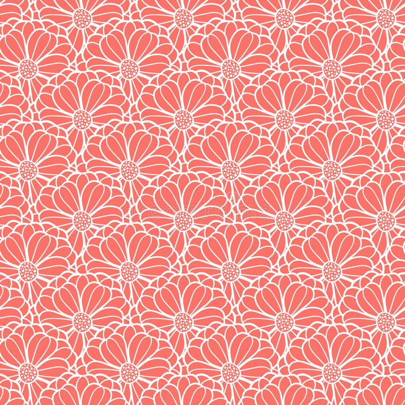 Vector fish scale style floral pattern texture royalty free illustration