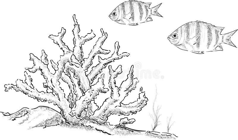 Vector - fish tank royalty free stock photography