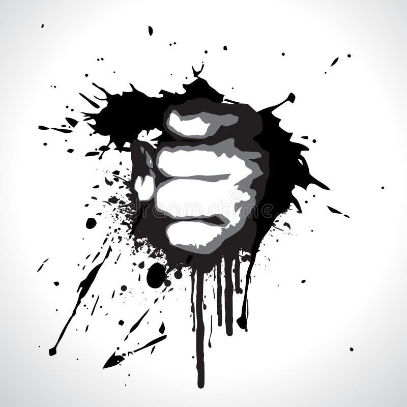 Vector fist vector illustration